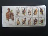 SOUTH AFRICA 1998 BIRDS - RAPTORS 10v BOOKLET PANE MNH MINT SG1065/74