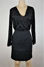 df1ef8751c7 Nicole Miller Dress Womens Size 6 Black Blouson Long Sleeve Formal