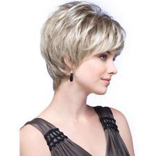 Fashion wig Natural Light Blonde Straight Short Hair Wigs Short Women's wig
