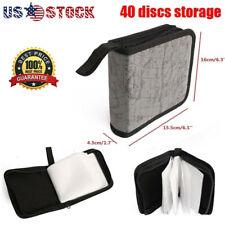 Portable 40 Disc CD DVD VCD Organizer Holder Storage Case Wallet Album Video Bag