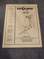 IMPEX Gear M55-1600 Hone Gym Owner's Manual