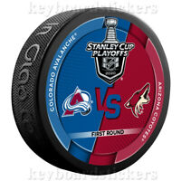 2020 Stanley Cup Playoffs Dueling Hockey Puck Colorado Avalanche Arizona Coyotes