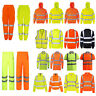HI VIZ HI VIS HIGH VISIBILITY JACKET HOODIE HOODY HOODED SWEAT SHIRT FLEECE TOP