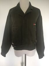 Womens Vintage Esprit Sport Jacket Military 100% Cotton Army Green Size S Patch