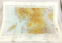 1952 Militare Map North Occidente Centrale Inghilterra Raf Aviazione Aeronautico