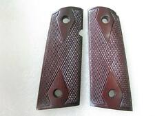 DIAMOND CHECKERED HARD WOOD GRIP COLT OFFICER, 1911 COMPACT SIZE NO 1