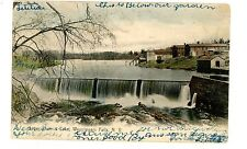 Wappingers Falls NY - UPPER DAM & LAKE - ICE HOUSE - Handcolored Postcard