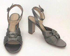 Gianvito Rossi Women Shoes Size 38.5 NIB Grey Sandals Heels