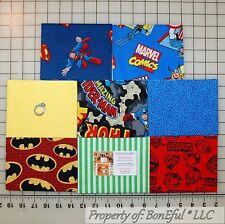 BonEful Fabric COTTON QUILT Star War Red Super Hero DC Comic Marvel Block Batman