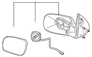 Genuine GM Mirror Assembly 15935753