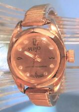 Time Mainsping Octagon Bezel Cystal Accents Vintage Rare Ladies Seiko Wind Life