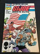 Gi-joe:Order Of Battle#1 Awesome Condition 8.0(1986) Wrap-around Cover!!