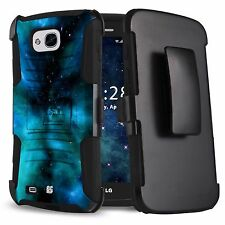 For LG X Venture H700 X Calibur V9 Dual Layer Case w/Stand+Holster Clip Cover