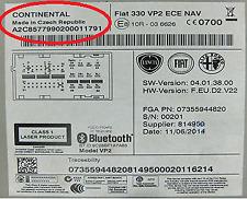 CONTINENTAL RADIO CODE FOR FIAT LANCIA CITROEN PEUGEOT ALFA ROMEO SECURITY PIN
