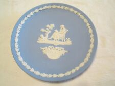 Vintage 1977 Wedgwood Mother Jasperware Plate Light Blue England