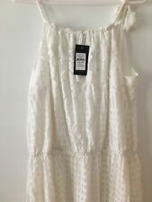 City Chic Ivory Burn out Leadlight Maxi Dress Plus Size L 20