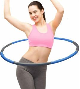 Hoola Hoops Fitness Sport Bauchtrainer Hula Hoop Hup Reifen 8 Segmente zerlegbar