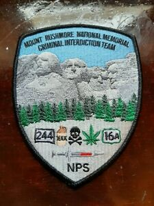 Mount Rushmore South Dakota Police Sheriff Patch Criminal Interdiction Team