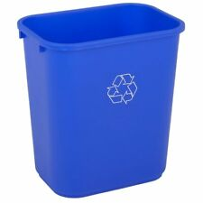 Highmark Recycling Bin, 6.5 Gallons, Blue