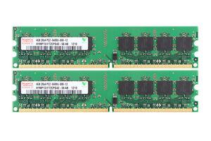 Hynix 8GB RAM 2x 4GB DDR2 800Mhz PC2-6400U 2Rx4 DIMM Memory Desktop Only For AMD
