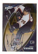DENNIS SEIDENBERG Flyers 2002-03 BAP Hockey Certified Signature AUTOGRAPH RC