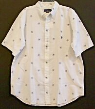 Polo Ralph Lauren Big Tall Mens 2XLT White Anchor Dog Seersucker Shirt NWT 2XLT