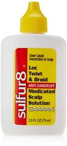 Lock Twist and Braid Medicated Scalp Solution 2.5 Oz, Controls Dandruff And Itch