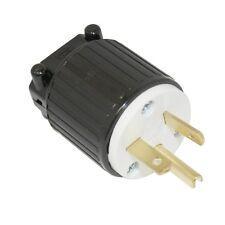 220 - 250 Volt Straight Sideways Electric Plug 3 Wire, 20 Amps, 250V, NEMA 6-20P