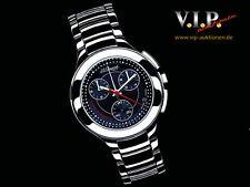 St.Dupont Circle Chronograph Montre Watch Men's Steel Chrono Orologio時計