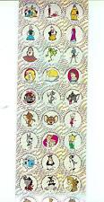 Popeye Tom & Jerry Jetsons Scooby Doo Wizard of Oz Rare Sticker Decal Sheet