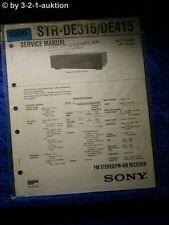 Sony Service Manual STR DE315 /DE415 FM/AM Receiver (#5200)