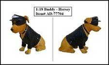 "BIKER'S DOG ""BUDDY HERSEY"" FIGURE FOR 1:18 MODEL CARS BY AMERICAN DIORAMA 77704"