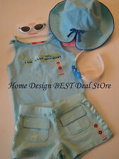 NWT Gymboree Girl Pool Party Summer LOT Outfit 4T Tank Top Short 4pcs Set