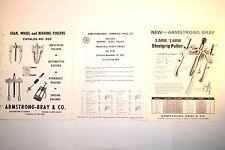 ARMSTRONG BRAY GEAR WHEEL BEARING PULLER CATALOG 900 + PRICE LIST + FLYER #RR786