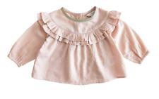 Fox & Finch Baby Fleur Ruffle Yoke Top - Dusty Pink - Size 00