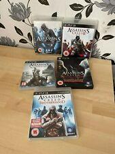 5 x Assassin's Creed Bundle PS3 PlayStation 3: 1,2,3 Brotherhood Revelations