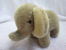 Russian German small elephant vintage plush toy Серый Слоник