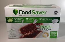 "FoodSaver Special Value Vacuum Seal Combo Pack 1-8""Roll; 4-11""Rolls; 36 Pre"