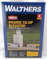 N Scale Prairie Co-Op Elevator Kit - Walthers #933-3860