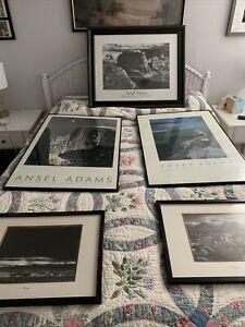 lot of 5 Ansel Adams (large)ART photography Mt Williamson, Moonrise, 2 NP's +