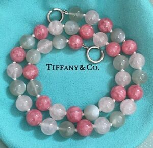 Tiffany & Co. ~ Multi GEMSTONE Gems Bead Sterling Silver Necklace PALOMA PICASSO