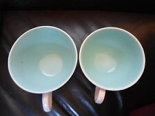 POOLE POTTERY TWINTONE SEAGULL ICE GREEN SMALLER SIZED COFFEE CUP TO RIGHT