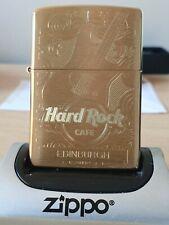 HARD ROCK EDINBURGH SOLID BRASS ZIPPO (204B) BRAND NEW IN GIFT/PRESENTATION BOX.