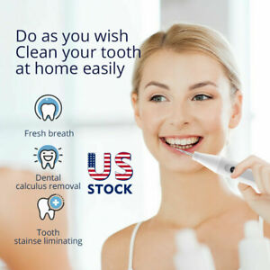 Ultrasonic Dental Scaler Tooth Stain Eraser Cleaner  Charging Tooth Whitening US