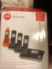 Motorola Four Handset Connect To Call Answering System With Rugged Handset.