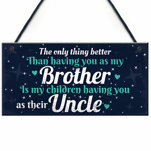 Thank You Novelty Gift For Uncle Plaque Gifts For Brother Birthday Christmas