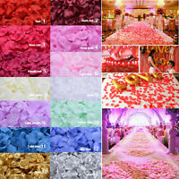 1000pcs 10 Colors Silk Rose Flower Petals Wedding Party Confetti Decoration