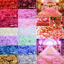 1000pcs 10 Colors Silk Rose Flower Petals Wedding Party Confetti Decoration