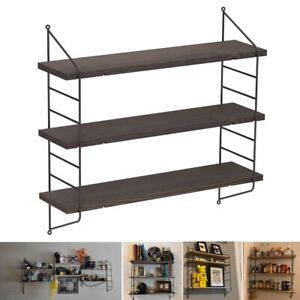 3-Tier Floating Shelf with Metal Brackets & Removeable Boards DIY Shelving Unit
