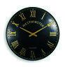 Outdoor indoor black Garden Wall Clock  Hand Painted church clock 23 inch
